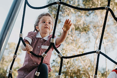 Scarlett at the playground